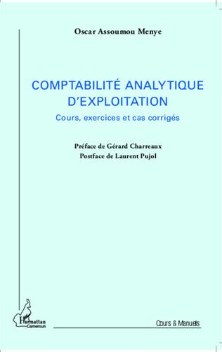 Couverture La comptabilité analytique d'exploitation