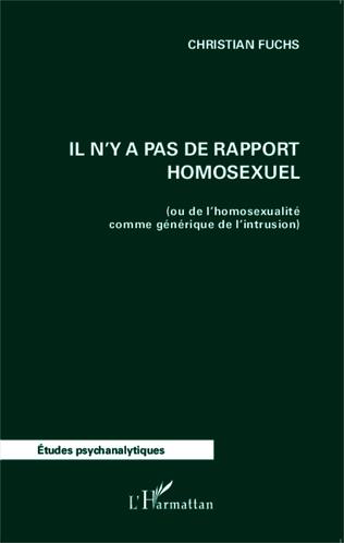 Couverture Il n'y a pas de rapport homosexuel