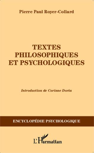 Couverture Textes philosophiques et psychologiques