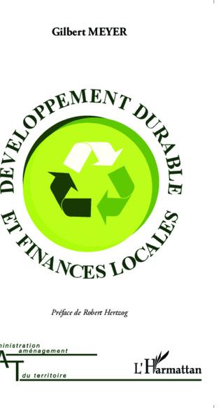 Couverture Développement durable et finances locales