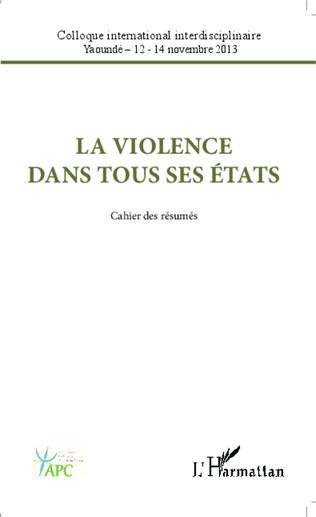 Couverture La violence dans tous ses états
