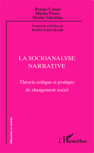Couverture La socioanalyse narrative