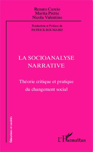 Couverture La socioanalyse narrative