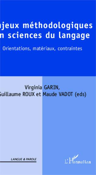 Couverture Enjeux méthodologiques en sciences du langage