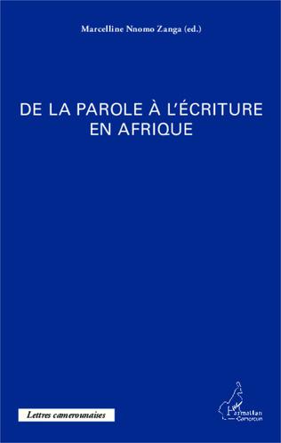 Couverture De la parole à l'écriture en Afrique