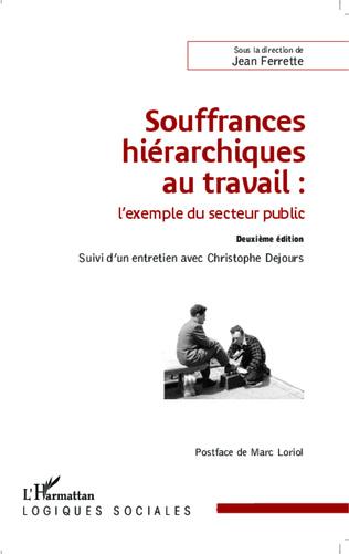 Couverture Souffrances hiérarchiques au travail : l'exemple du secteur public