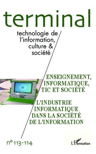 Couverture Enseignement, informatique, TIC et société