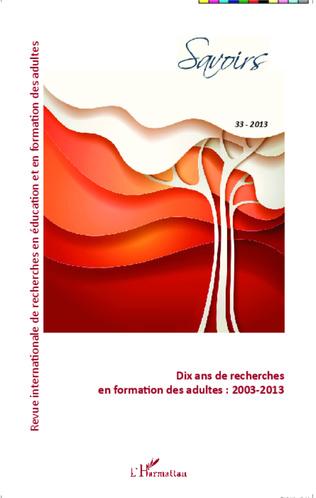 Couverture Dix ans de recherches en formation des adultes : 2003-2013