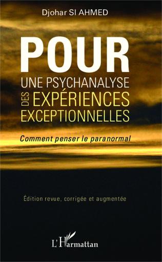 Couverture Pour une psychanalyse des expériences exceptionnelles