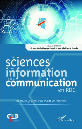 Couverture Les sciences de l'information et de la communication en RDC