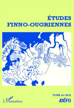 Couverture Etudes finno-ougriennes 44