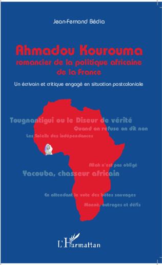 Couverture Ahmadou Kourouma romancier de la politique africaine