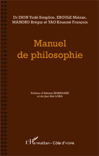 Couverture Manuel de philosophie