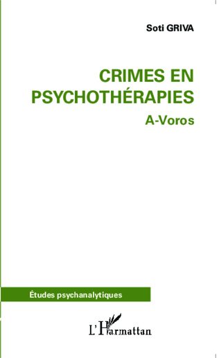 Couverture Crimes en psychothérapies