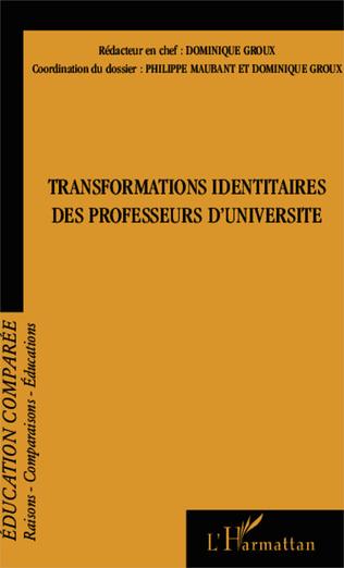 Couverture Transformations identitaires des professeurs d'université