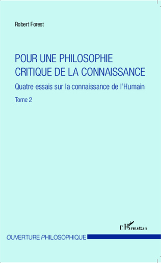 Couverture Pour une philosophie critique de la connaissance