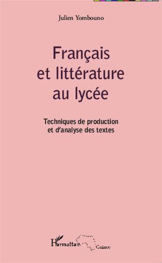 Couverture Français et littérature au lycée