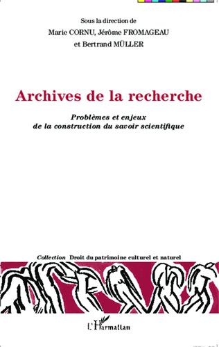 Couverture Archives de la recherche