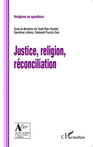 Couverture Justice, religion, réconciliation