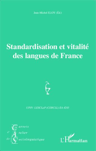 Couverture Standardisation et vitalité des langues de France