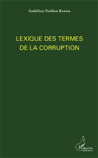 Couverture Lexique des termes de la corruption