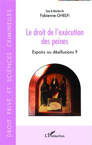 Couverture Le droit de l'exécution des peines