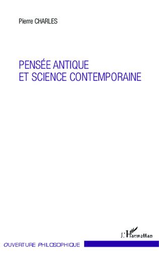 Couverture Pensée antique et science contemporaine