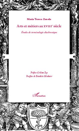 Couverture Arts et métiers au XVIIIè siècle