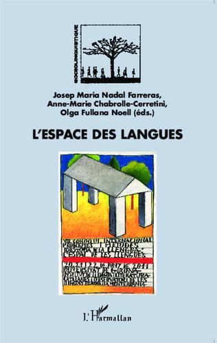Couverture L'espace des langues