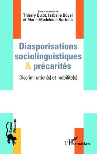 Couverture Diasporisations sociolinguistiques & précarités