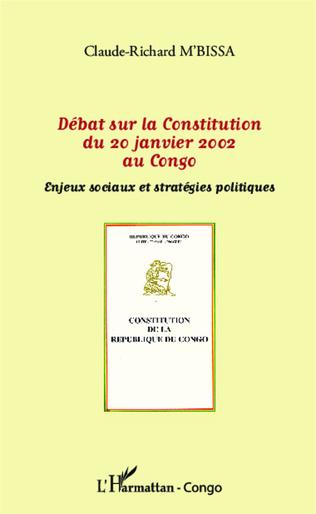 Couverture Débat sur la Constitution du 20 janvier 2002 au Congo
