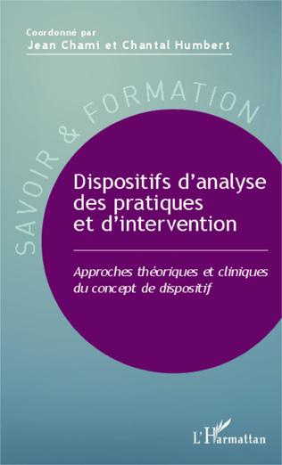 Couverture Dispositifs d'analyse des pratiques et d'intervention