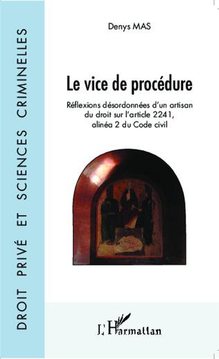 Couverture Le vice de procédure