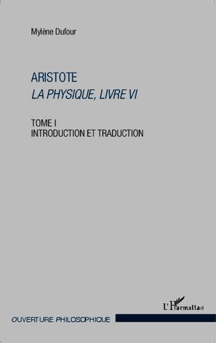 Couverture Aristote La Physique, livre VI