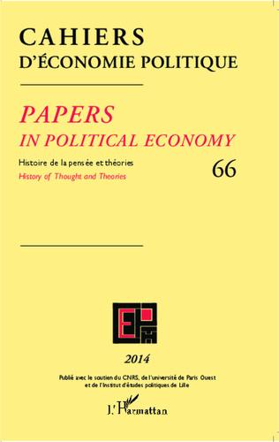 Couverture Cahiers d'économie politique 66