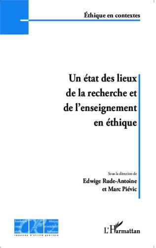 Couverture Un état des lieux de la recherche et de l'enseignement en éthique