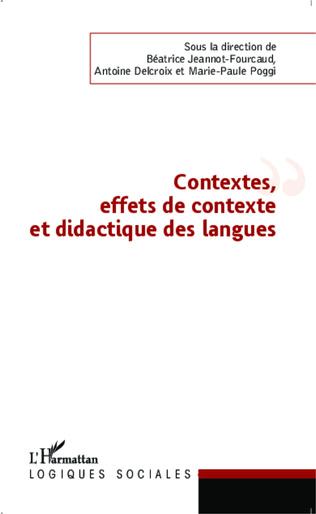 Couverture Contextes, effets de contexte et didactique des langues