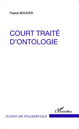 Couverture Court traité d'ontologie