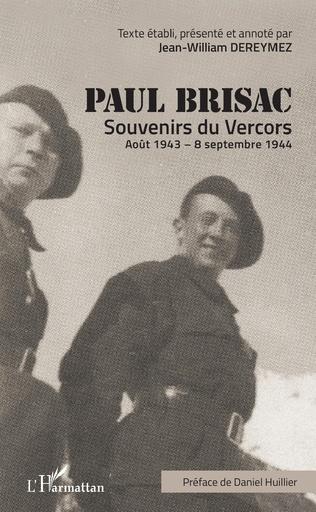 Couverture Paul Brisac Souvenirs du Vercors