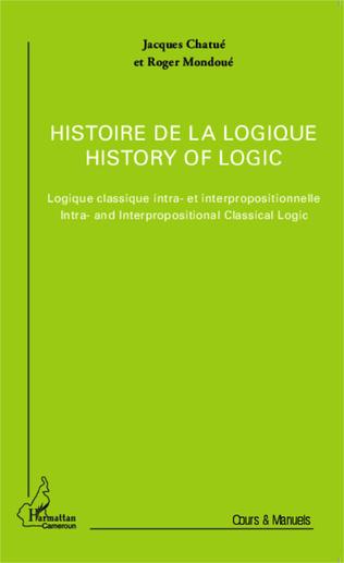 Couverture Histoire de la logique / History of logic
