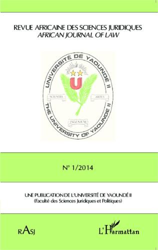 Couverture Revue Africaine des Sciences Juridiques n° 1/2014