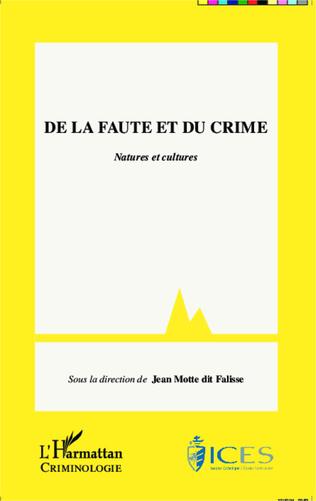 Couverture De la faute et du crime