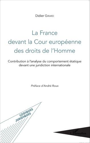 Couverture La France devant la Cour européenne des droits de l'Homme
