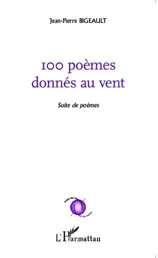 Couverture 100 poèmes donnés au vent