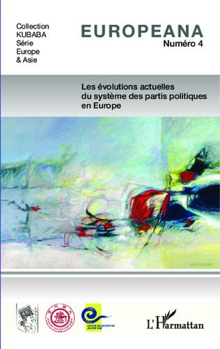 Couverture Les évolutions actuelles du système des partis politiques en Europe
