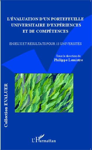 Couverture L'Évaluation d'un portefeuille universitaire d'expériences et de compétences