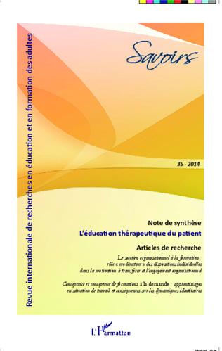 Couverture L'éducation thérapeutique du patient