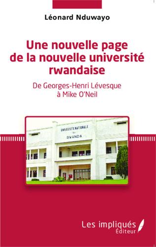 Couverture Une nouvelle page de la nouvelle université rwandaise