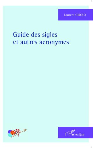 Couverture Guide des sigles et autres acronymes