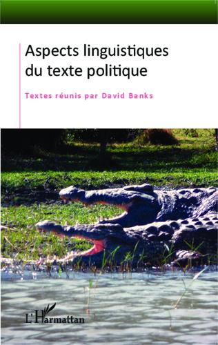 Couverture Aspects linguistiques du texte politique
